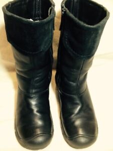 "Ladies Black Leather ""Keen Dry""Casual Mid Calf Winter Boots 39M"