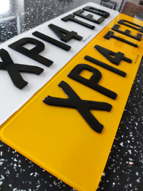 3D, 4D and Gel Number plates and bedroom signs Made same day