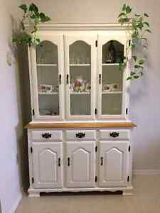 White Cabinet and Hutch