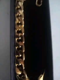 Gold filled 12mm curb bracelet new 8inches