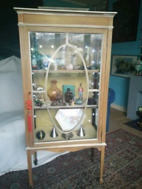 Victorian Crystal glass display cabinet