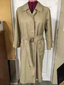 Vintage Authentic Burberry Classic Trench Coat Sz Large
