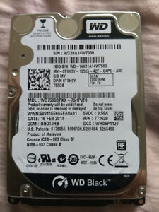 Western Digital MacBook HDD WD7500BPKX Black 750GB SATA 6G