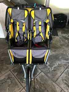 Like New Yellow Bob Double Running Stroller