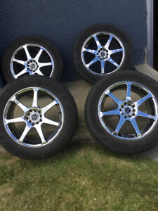 Core Racing Concept rims (5 stud) with four M/S tires