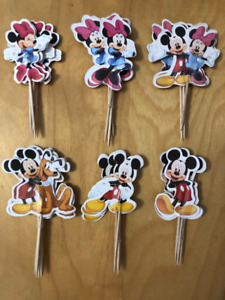Mickey, Minnie and Pluto cupcake toppers - 24 pcs
