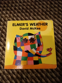 Elmers Weather Board Book By David McKee