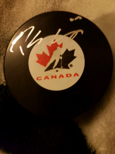Patrick Sharp Autographed Puck For Sale