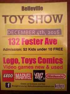 Belleville TOYSHOW Dec 4th lego nintendo comicbooks star wars