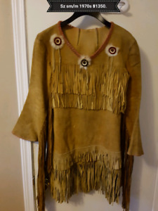 1970s native American dress and boots.