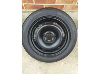 "Full size 15"" spare wheel + 195/55/15 tyre ***5x100*** VW skoda Audi Sear etc"