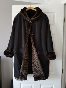 Faux Mink reversible Coat