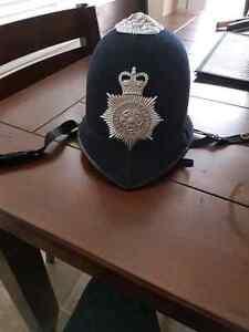 Old police helmut