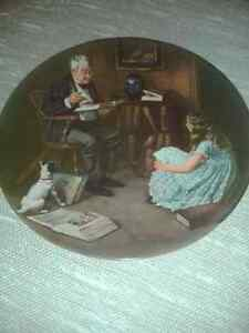"""THE STORYTELLER"" by Norman Rockwell - Collectors Plate"