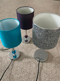 3x Beautiful Bedside Lamps (Excellent Condition)