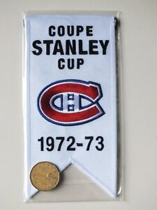 CENTENNIAL STANLEY CUP 1972-73 BANNER MONTREAL CANADIENS HABS Gatineau Ottawa / Gatineau Area image 2