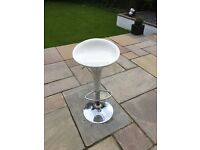 White bar stools x4