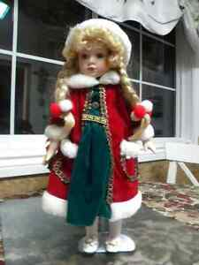 CHRISTMAS PORCELAIN DOLL