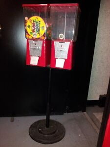 Double Bubble Gum Machines on Stand