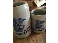 Wieze Belgium oktoberfeesten beer mugs October beer fest