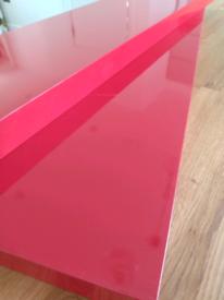 Red Gloss Ikea LACK floating Shelves - quantity 2