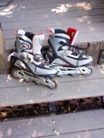 Men's RollerBlade Brand In-Line Skates  Size 9  Virtually Unused