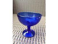 Fabulous Blue Glass Patterned Ice Cream/ Dessert glass
