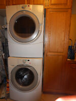 Matching Whirlpool Duet Washer and Dryer