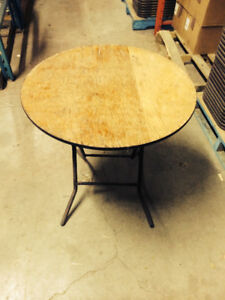 """36"""" round folding tables"""