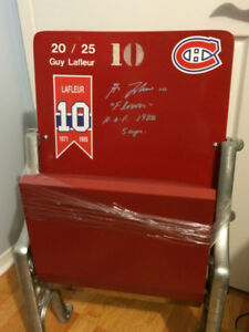 MONTREAL FORUM SEAT SIGNED BY GUY LAFLEUR w/ COA