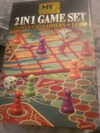 2 in 1 game . Snakes and ladders and ludo