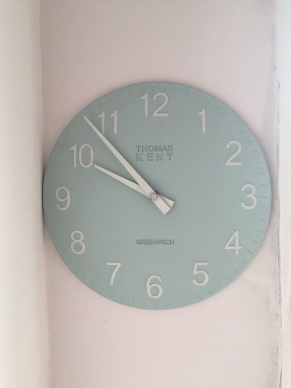 Thomas Kent Duck Egg Blue Wall Clock In Farnham Surrey Gumtree