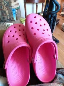 Pink Crocs size 8-9 womens and 6-7 men