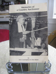 COLLECTOR'S BOOK...MEMORIES of a COUNTRY AUCTIONEER... [SIGNED]