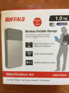 Buffalo 1 TB Portable External Hard Drive