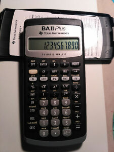 financial calculator BA II Plus Texas Instruments