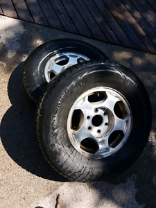265/70/16 Tires on GM Rims
