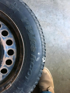 4 Snow tires with rims recently balanced , 195 165 r15