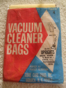 FULL PACK of FOUR UPRIGHT VACUUM CLEANER BAGS