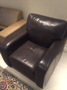 Leather chair sofa