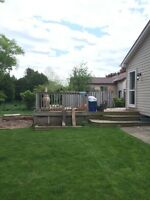 Deck demo and disposal