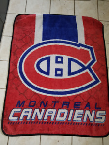 2 NHL BLANKET CANADIENS  FOR SALE