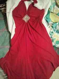 Red mariposa dress xs