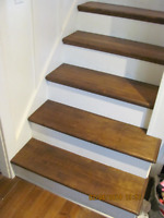 Stain Grade stair treads.
