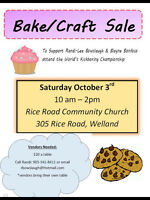 Vendors wanted for craft/bake sale