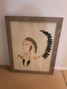 1980's Large Original Native Painting signed
