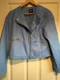 Ladies faux leather jacket