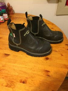 Leather Steel Toe Boots - Slip On / Fire Resistant - Worn Once