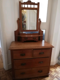 Edwardian mirrored chest of drawers