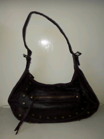 PURPLE HAND/SHOULDER BAG